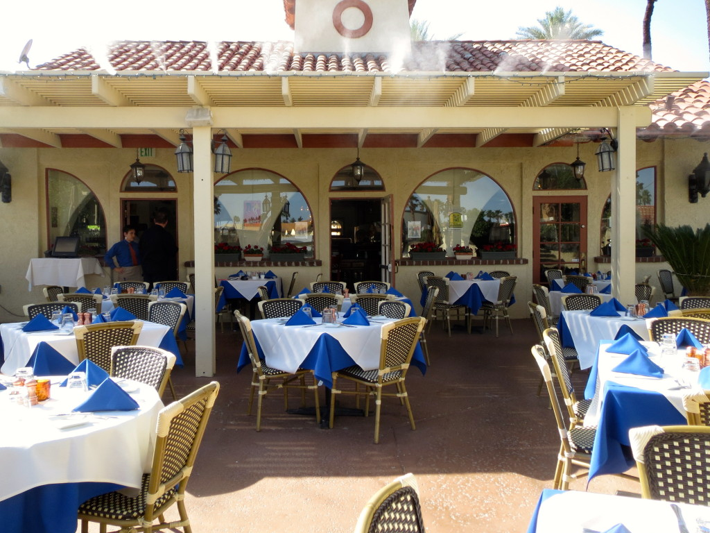 Restaurant misting system outdoor patio