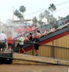 Misting keeps fans cool at Palm Springs POWER home games