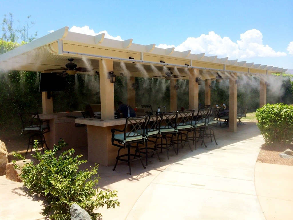 outdoor entertaining is cooler than ever with misting systems