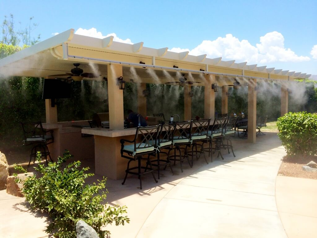 Outdoor Misting System : Koolfog misting systems news in the desert coachella