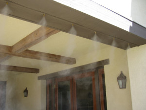 incorporating misting systems in design